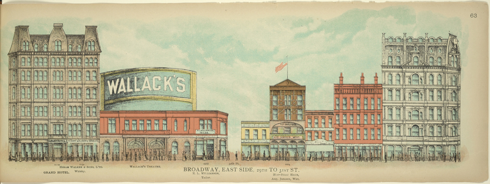 Image de la Monthly Review: Broadway, East Side. 29th to 31st St. – 1899 – THE NEW YORK PUBLIC LIBRARY DIGITAL COLLECTIONS